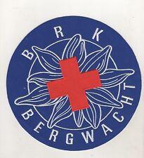 Large Sew-On Brk Bergwacht Red Cross Diameter 20 CM