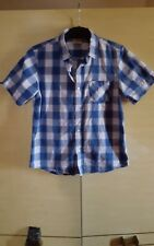 LEE COOPER 13 years Blues & White Check 100% Cotton Short Sleeve Casual Shirt