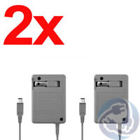 2x AC Adapter Home Wall Power Supply Charger Nintendo DSi NDSI 3DS XL LL