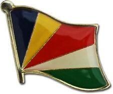 Seychelles Country Flag Bike Motorcycle Hat Cap lapel Pin