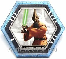 NEW 2015 Star Wars Topps Galactic Connexions Trading Disc COLEMAN TREBOR Blue
