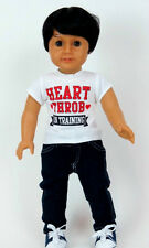 "18"" Boy Doll Shirt Heart Throb T-Shirt fits 18"" Boy Doll Tee Shirt"