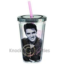 Elvis Presley 18 Oz. Acrylic Travel Cup Funny Novelty Coffee Tea Drink Holder