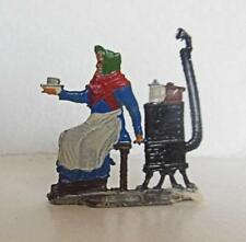 Vintage Hand Painted Heinrichsen Lead Figure Woman with Stove