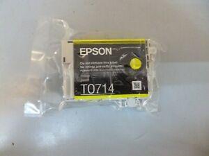 GENUINE EPSON T0714 TO714 YELLOW CARTRIDGE  ORIGINAL  CHEETAH INK