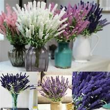 12Heads Artificial Silk Flowers Lavender Wedding Bouquet Home Party Decor AU