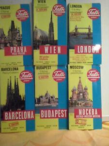 42 Falk Stadtpläne verschiedene Auflagen, gut erhalten, Deutschland, Europa