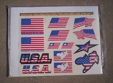 US Flag / Motocross Sticker Set