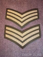 NEW Pair British Army Military Sergeant's Chevrons / Stripes Tunic / Jacket