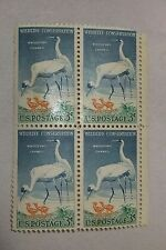 $0.03 Cents Wildlife Conservation Stamps Plate Block of 4
