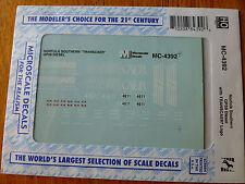 Microscale Decal HO  #MC-4392 NS GP59 with TRANSCAER Logo Dates:2002+