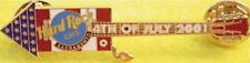 Hard Rock Cafe SACRAMENTO 2001 July 4th FIRECRACKER Guitar PIN Fireworks