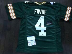 Brett Favre Signed Green Bay Packers Custom Home Jersey MVP Official Favre W/COA