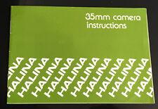 Original Halina 35mm Camera Instructions booklet
