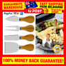 4pcs Cheese Knife Set Wooden Handle Slicer Fork Scoop Cutter Cheese Platter Tool