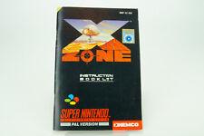 Super Nintendo *X-Zone* SNES Anleitung SNSP-XZ-SCN