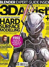 3D ARTIST #99 HARD SURFACE MODELLING Blender Expert Guide + 11GB of FREEBIES New