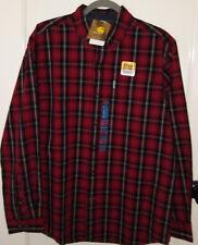 Carhartt Red Plaid Long Sleeve Regular Fit Button Up Work Shirt Mens-Size M-New