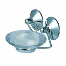 Distributeurs et porte-savons en chrome pour la salle de bain