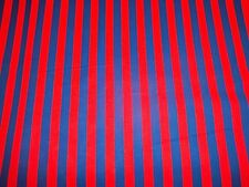 "RED and BLUE  STRIPE  - NEW -100%  COTTON NICE FABRIC  1 YARD  PIECE 36"" x 58"""