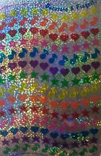 """DECORATED TINY Prismatic Stickers(140pc)4""""x6-1/2 Sandylion•Heart•Star•Music Note"""