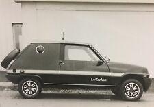 Rare Dossier De Presse 1979 RENAULT R5 Designer HEULIEZ   !!!