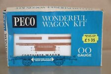 Peco Superbe Wagon Kit Br Marron Conflat Wagon 735770 Emballé NW