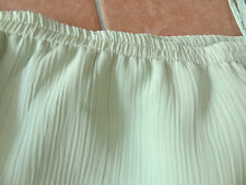 Damen Rock 42-44-46 L-XL Rundumgummizug Sommerrock mint hell-grün schilf chiffon