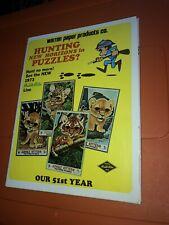 VTG Warren Paper Products Built Rite Toy Dealer Catalog Game Puzzles Animal 1973