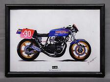 [illustration] KAWASAKI MORIWAKI Z1000 illustration with frame Wayne Gardner