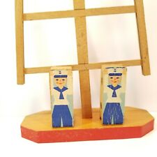 Wooden Ladder Racing Toy Sailors Germany Vintage -XMB8