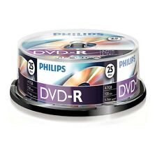 Paquet de 25 PHILIPS 16 x VITESSE DVD-R DISQUES 4.7GB Go MARCHAND GB