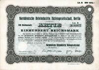 Norddeutsche Hefeindustrie AG Berlin Aktie 1927 Werl Likör Spirituosen Getränke