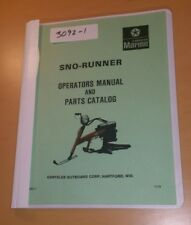 SNO-RUNNER Operators Manual and Parts Catalog , Chrysler snow rabbit snow bike