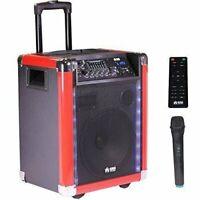 """PKL600BK 10"""" Portable Loud  Wireless Rechargeable Bass Speaker w/LED Work w/ BT"""