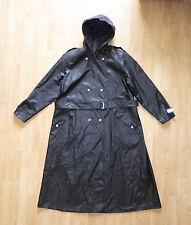 Women's Rukka Black Hooded PVC Waterproof Jacket Raincoat Eur 40 / Large