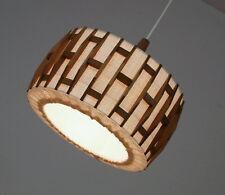 AKA Stoff Teakholz Deckenlampe Pendelleuchte Hänge Lampe 60er Jahre Danish Style