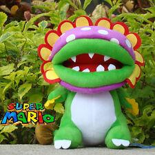 "Super Mario Bros Plush Toy Dino Piranha 8"" Cuddly Stuffed Animal Soft Doll Game"