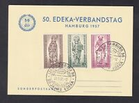 50. EDEKA Verbandstag 1957 mit Berlin  Michel 132 - 134 Sonderstempel