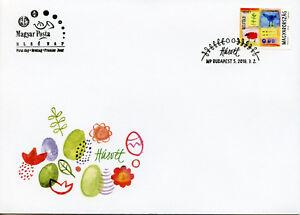 Hungary 2018 FDC Easter Eggs Sheep Birds 1v S/A Set Cover Religion Stamps