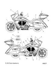 Victory Motorcycles BADGE 106 7180925 New OEM