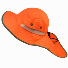 Men Neck Flap Boonie High Visibility Safety Reflective Bucket Hat Cap Orange LOT