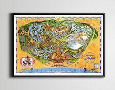 Vintage 1976 DISNEYLAND Park Map POSTER (Up to 24