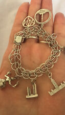genuine 925 sterling silver bracelet with charms