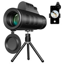 40X60 Zooms Monocular Telescopes Prism High-Definition With Phone Clip + Tripod