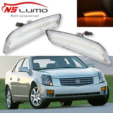 Clear Front Led Side Marker Lights Front Bumper for Cadillac CTS/CTS V 2003-2007