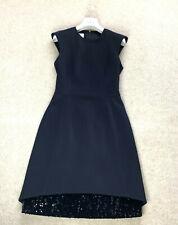 RARE Women's AKRIS PUNTO Dress Shiny UK 8 US 4 36 S Blouse Sweater Jumper Black