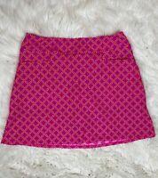 Jude Connally Women's Mini Skirt Skort Tennis Golf Pink Orange Geometric Large