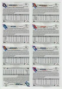 (8) DIFFERENT 2021 TOPPS SERIES 2 ADVANCED STAT LINE PARALLEL LOT /300 EACH