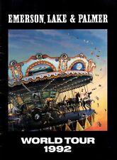 EMERSON, LAKE & PALMER 1992 BLACK MOON TOUR CONCERT PROGRAM BOOK / VG 2 NNT